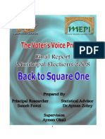 The Voter's Voice Project - Final Report