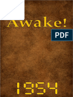 Awake! - 1954 issues