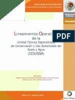 Lineamientos Ute-coussa 2012