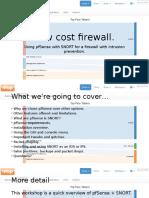 ICTF15 PfSense IPS Firewall