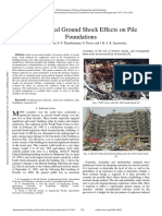 Blast Induced Ground Shock Effects on Pile Foundations