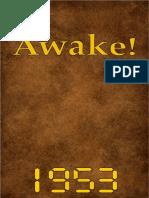 Awake! - 1953 issues