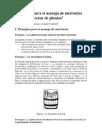Principios Para El Manejo Nutrientes en La Producción de Plantas Sierra Et Al
