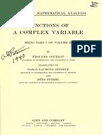 A Course in Mathemathical Analysis Vol. II. Goursat, Edouard. 1916