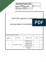 PETS PCC-OC-005- Relleno Masivo Con Material Propio