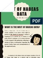 Writ of Habeas Data Final