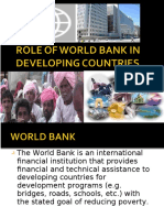 (726305976) 21964138 Role of World Bank in Developing Countries