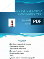 Wacc y Costo de Capital Sep 2014