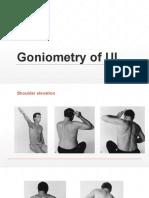 Goniometry of UL
