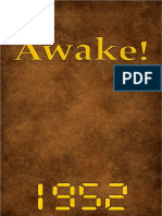 Awake! - 1952 issues