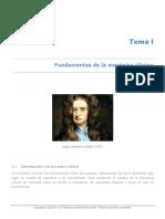 Tema I . Fundamentos de Mecánica Clásica