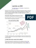 La Crisis Del Petróleo en 2008