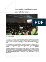 16-02-11 Declaran Jóvenes Arribo Triunfal de Enrique Serrano Rumbo a La Gubernatura