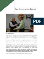 16-02-11 Presenta Enrique Serrano Precandidatura Ante La CTM
