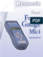 Mecmesin BFG Basic Force Gauge 2005-Current Manual