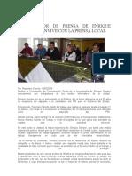 16-02-13 Coordinador de Prensa de Enrique Serrano Convive Con La Prensa Local