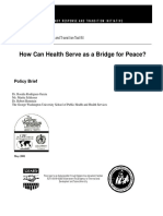 How Can Health Serve as a Bridge for Peace