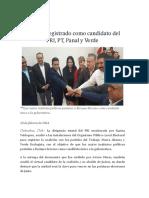 16-02-10 Serrano Registrado Como Candidato Del PRI, PT, Panal, y Verde