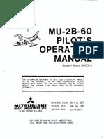Mitsubishi MU-2B-60 Marquise Pilot's Operating Manual