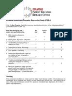 Dépression questionnaire PHQ-8 (anglais)