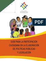 Guía para la Participación Ciudadana en la Elaboración de Políticas Públicas y Legislación