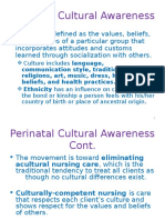 Perinatal Cultural Awareness