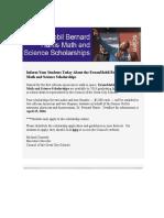ExxonMobil Bernard Harris Math and Science Scholarships
