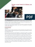 Gobierno Boliviano Creará Fondo de Defensa Con Recursos Del IDH