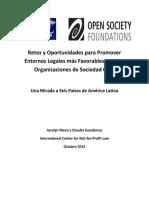 Retos y Oportunidades Para Entornos Legales Sociedad Civil LATAM 2015