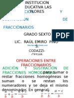 ADICIÓN+Y+SUSTRACCIÓN+DE+FRACCIONARIOS