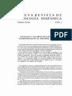 Company - Sintaxis y Valores de Los Tiempos Compuestos en Español Medieval