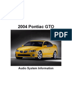 GTO Audio System Information