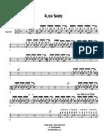 Alien Shore - Drum Transcription