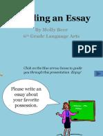 Building an Essay Stair
