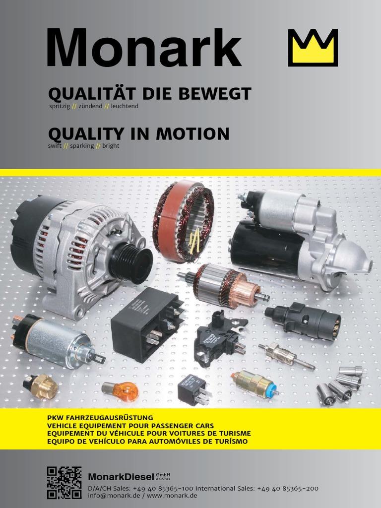 MONARK Magnetschalter für BOSCH GF 12V 1,5 KW Anlasser Starter//solenoid switch