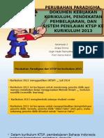 Materi Rps (4) ; Perubahan Paradigma Dokumen Kebijakan Kurikulum Pendekatan