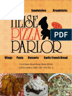 Heise Pizza Parlor Menu