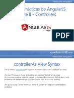 Buenas Prácticas de AngularJS Parte II - Controllers