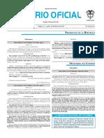Diario oficial de Colombia n° 49.790 18 de febrero de 2016