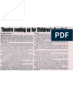 Theatre coming up Children's hospital