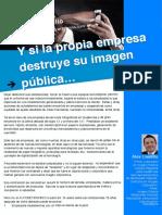 Artículo 13. Y si la propia empresa destruye su imagen pública...