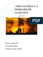 Provocarea Globala a Schimbarilor Climatice