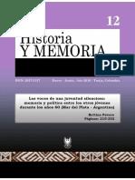 Artículo Historia y Memoria 2016