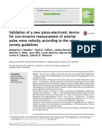 Validation of a new piezo-electronic device for non-invasive measurement of arterial pulse wave velocity according to the artery society guidelines