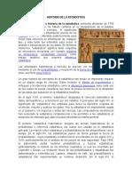 Historia de La Estadistica Historia de La Auditoria Desde Sus Origenes