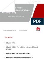 Introduction to Frame Structure and Alarm Analysis in OTN