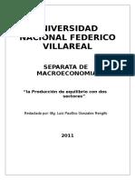 SEPARATA de _la Producción de Equilibrio Con Dos Sectores_. UNFV (1)