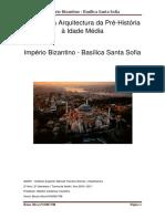 História da Arquitectura da Pré-História à Idade Média Império Bizantino - Basílica Santa Sofia