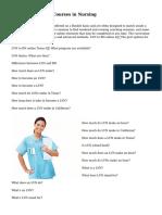 LVN Certification Courses in Nursing