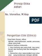 Prinsip Etika Keperawatan